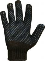 Перчатки х/б с ПВХ чёрные